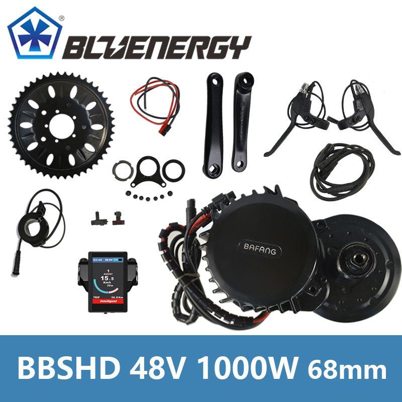 Bafang BBS03 BBSHD 46T Model 48V 1000W Ebike Electric Bicycle Motor Mid Drive Electric Bike Conversion Kit Bottom bracket 68mm