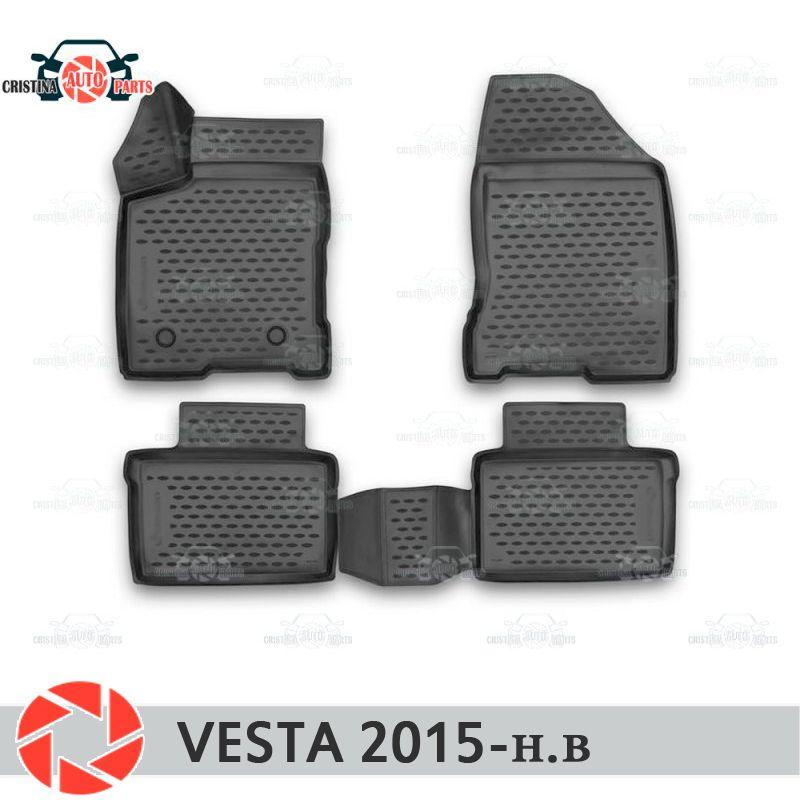Für Lada Vesta SD SW SW KREUZ 2015-fußmatten teppiche non slip polyurethan schmutz schutz innen auto styling zubehör