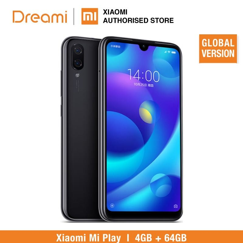 Global Version Xiaomi Mi Play 64GB ROM 4GB RAM LTE (Brand New & Sealed)