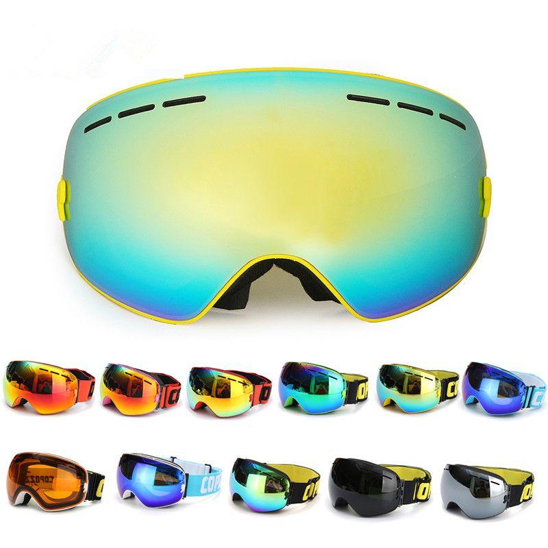 2017 New Arrival Spherical Dual-layer Lens Snowboard Goggles UV400 Anti-fog Skiing Ski Glasses