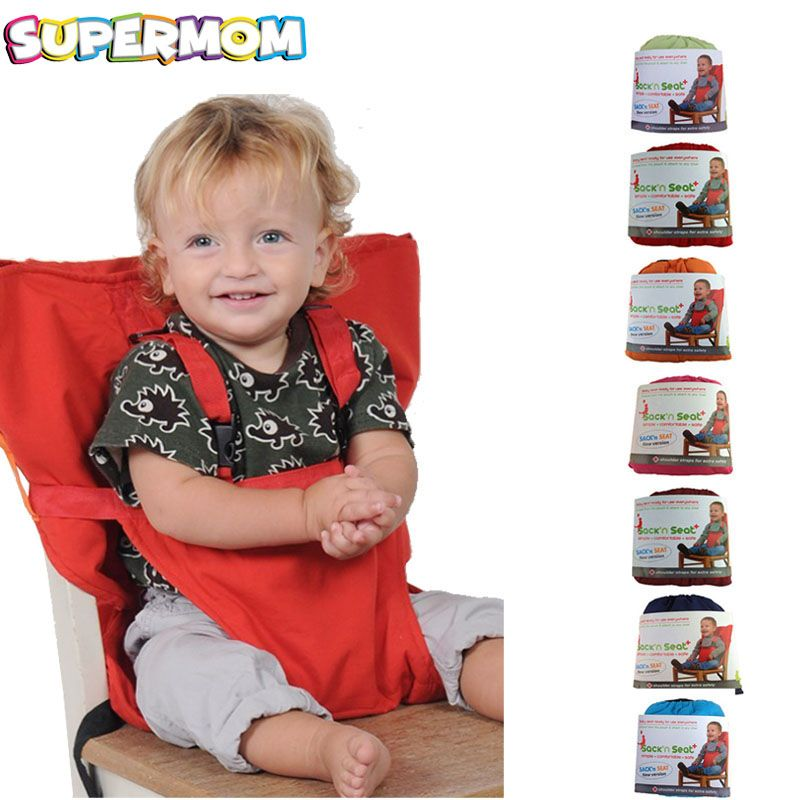 Baby Portable Seat Kids Chair Travel Foldable <font><b>Washable</b></font> Infant Dining High Dinning Cover Seat Safety Belt Feeding High Chair