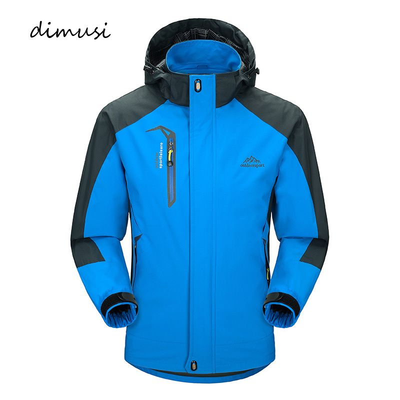 DIMUSI Casual Jacket Men's Spring Autumn Army Waterproof Windbreaker Jackets Male Breathable UV protection Overcoat 5XL,TA541