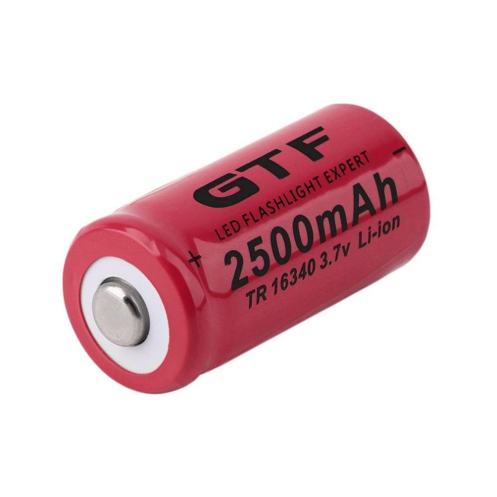 GTF 1 stücke Universal 16340 2500 mAh 3,7 V Li-Ion Wiederaufladbare Batterien Für Taschenlampe Scheinwerfer