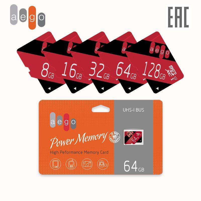 Speicher karte AEGO 128 64 32 16 8 GB U1 Klasse 10 microSDXC (ohne adapter)