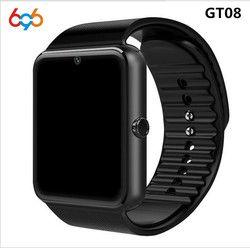 696 Montre Smart Watch GT08 Horloge Sync Notifiant Soutien Sim TF Carte Bluetooth Connectivité Android Téléphone Smartwatch Alliage Smartwatch