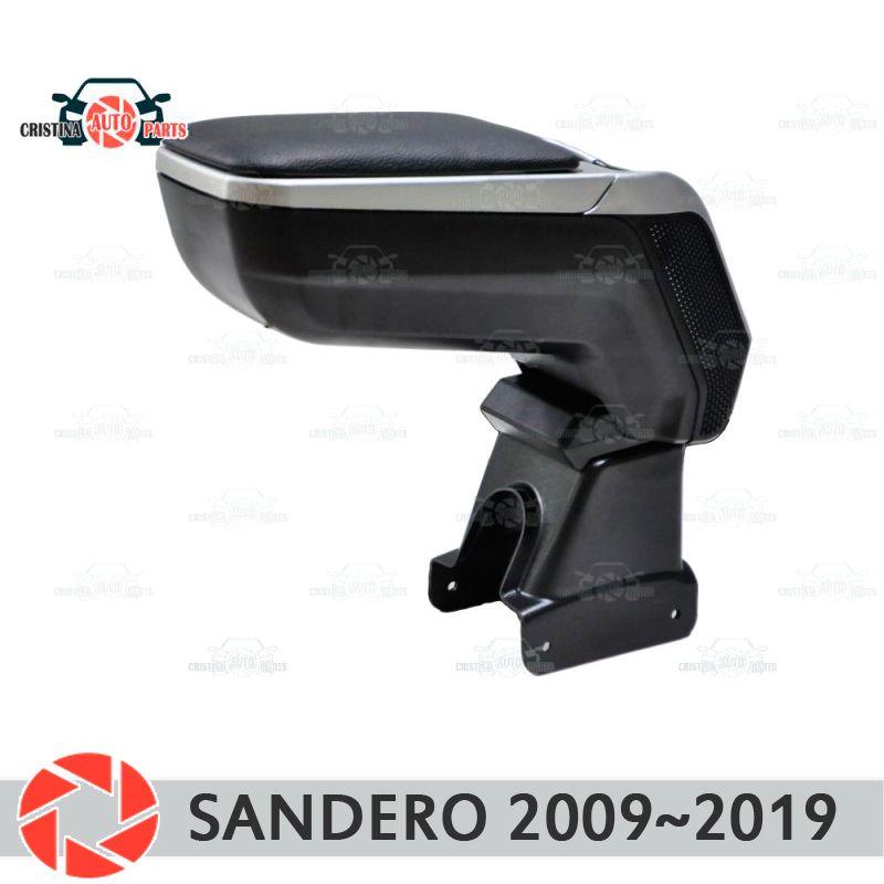 Armlehne für Renault Sandero 2009 ~ 2019 auto arm rest zentrale konsole leder lagerung box aschenbecher zubehör auto styling m2