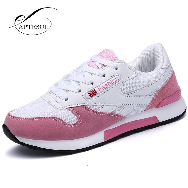 Aptesol Zapatillas para correr para mujeres deporte al aire libre sneakers aire malla jogging Zapatos transpirable ligero Atlético suave Zapatos para caminar