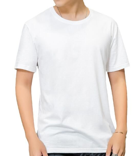 Summer, the new men's short sleeve T-shirt lovers pure color round collar white loose off half sleeve unlined upper garment of c