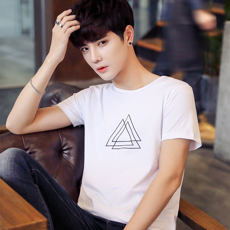 Short sleeve T-shirt male summer new men printing T-shirt modal han edition youth render unlined <font><b>upper</b></font> garment of a T-shirt