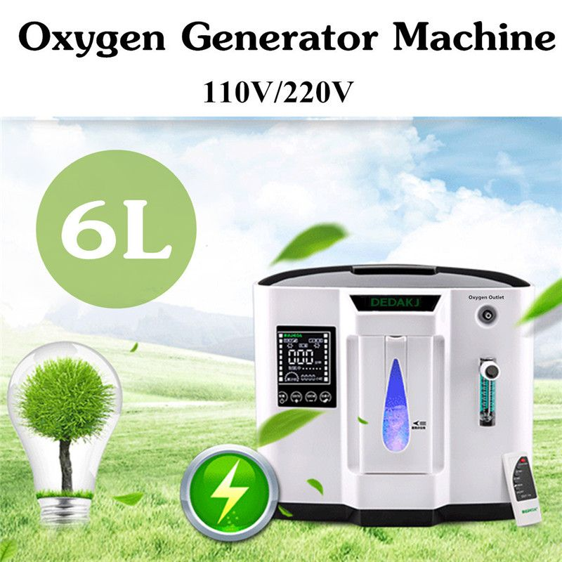 DDT-1A Oxygen Concentrator 110V US/220V EU 120W Oxygen Concentration 30-90 LED Display Touch Screen Portable System-board Oxygen