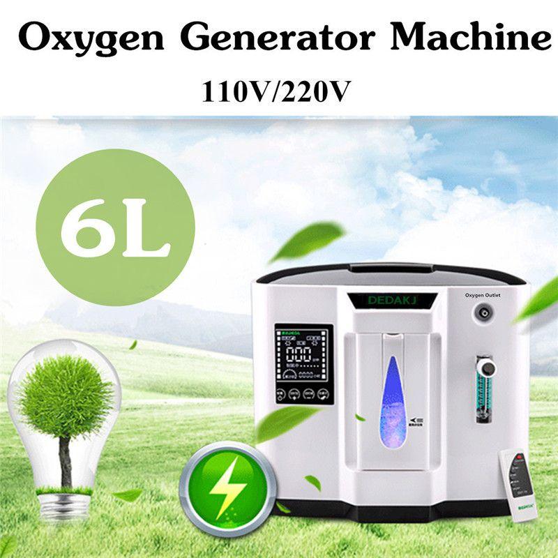 DDT-1A Oxygen Concentrator 110V US/220V EU 120W Oxygen Concentration 30-90 LED Display Touch Screen Portable System-board Oxygen