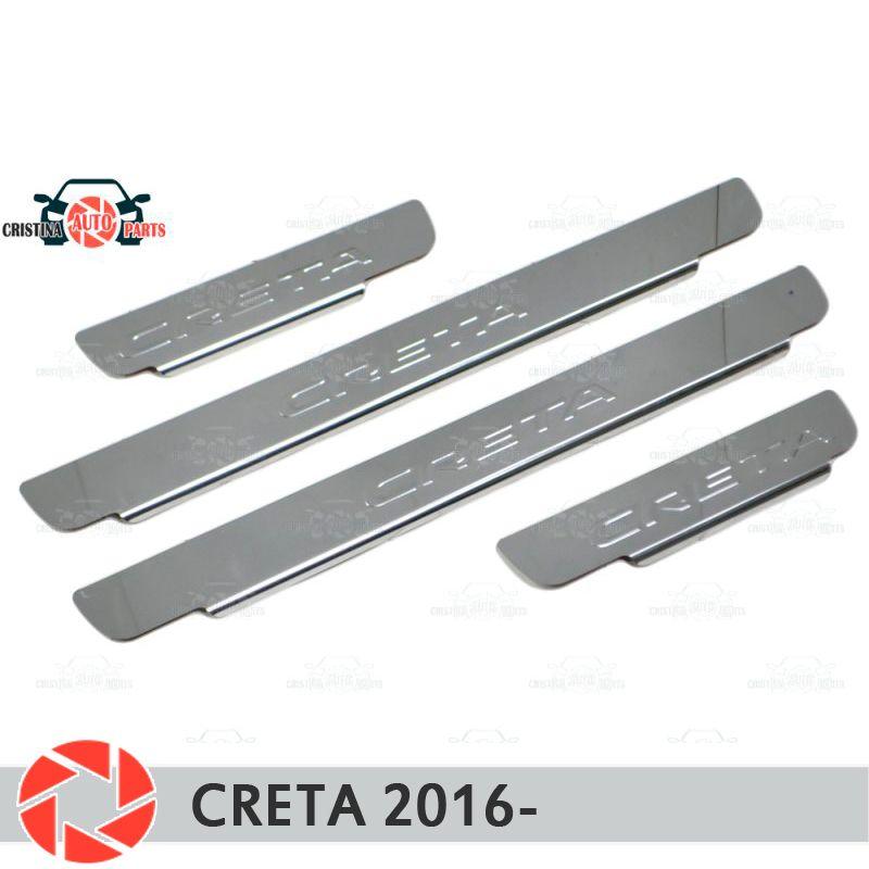 Einstiegsleisten für Hyundai Creta 2016-schritt platte inneren trim zubehör schutz scuff auto styling dekoration stempel modell