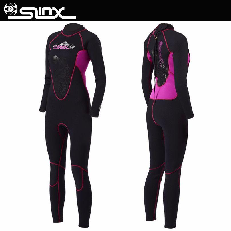 Slinx 3mm neoprene scuba diving wetsuit suits women swimming surfing warm wet suit swimsuit equipment jumpsuit full bodysuit Hot