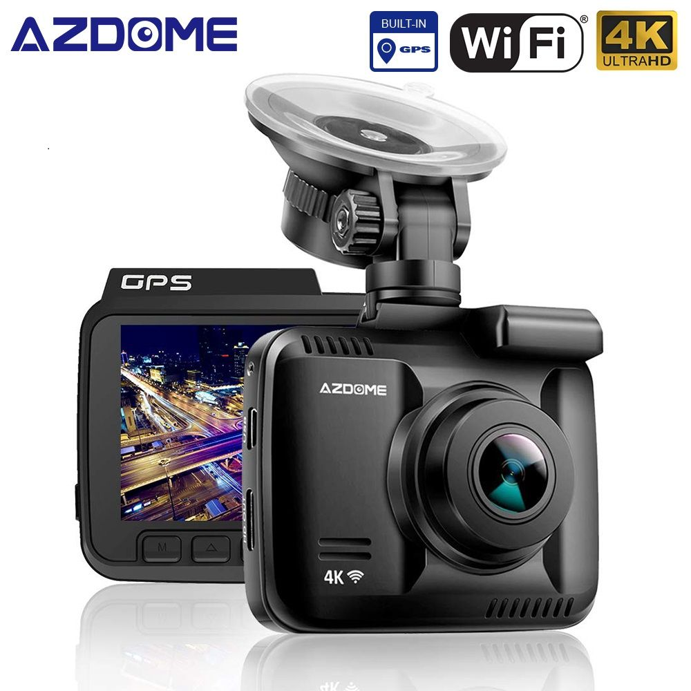 AZDOME GS63H 4K 2160P Dual Lens Built in GPS WiFi FHD 1080P Front + VGA Rear Camera Car DVR Recorder Dash Cam Night Vision