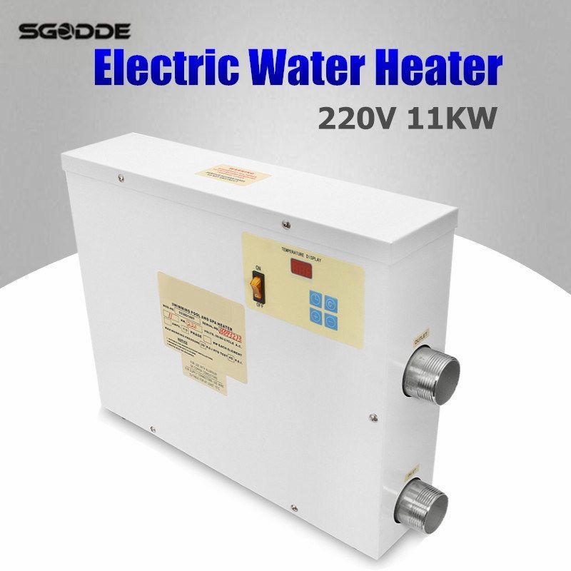 Poolheizung 11KW 220 V Elektrische Schwimmbad und Whirlpool Heizung Wanne Warmwasserbereiter Thermostat 220 V Schwimmbad zubehör