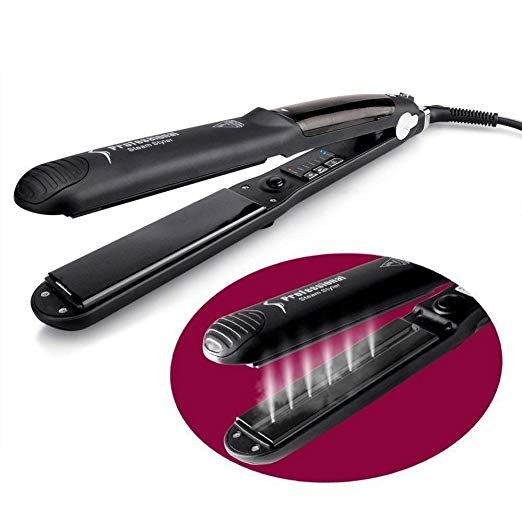 Codace Steam Straighteners for Hairstyling, Professional Ceramic Wet/Dry Steam Vapor Heater Salon, flat iron and Curling Irons