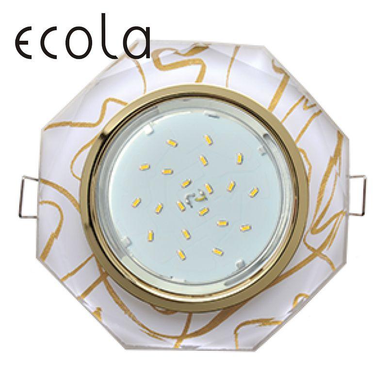 Ecola GX53 H4 5312 Downlight octagon Scheinwerfer Cut Loch Spot Lampe Montage Rahmen Birne Austauschbare gx53 Steckdosen 38x133