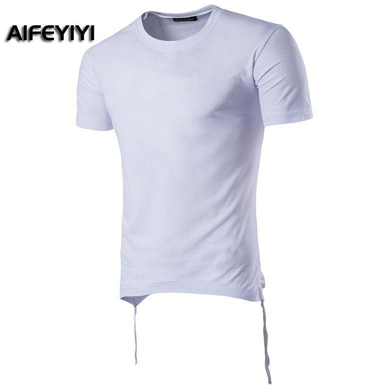 2018 summer European USmen's short-sleeved T-shirt high street hip-hop personality bat shirt round neck short-sleeved T-shirt