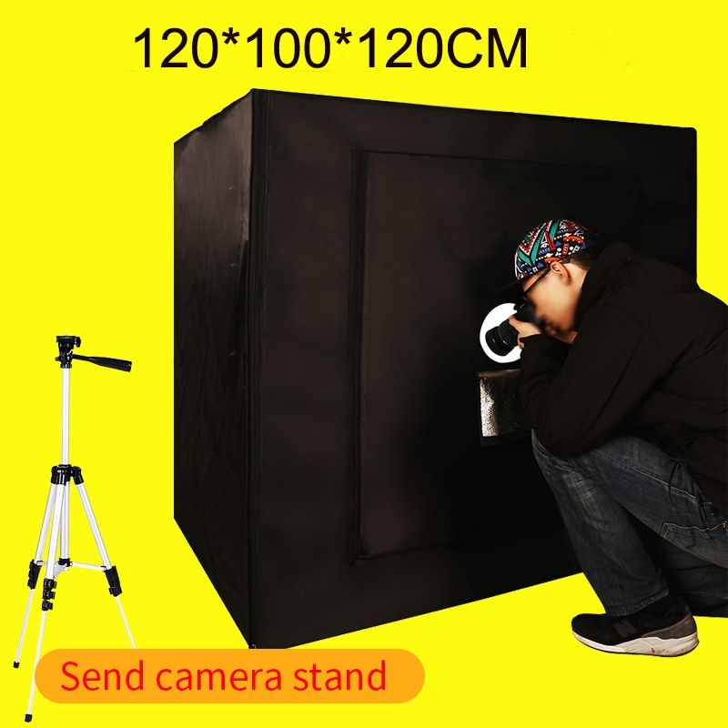 120*100*120CM Dimmable Led Light Photo Softbox Photo Studio Light Room Soft Box Kit Shooting For Clothing With Free Gift