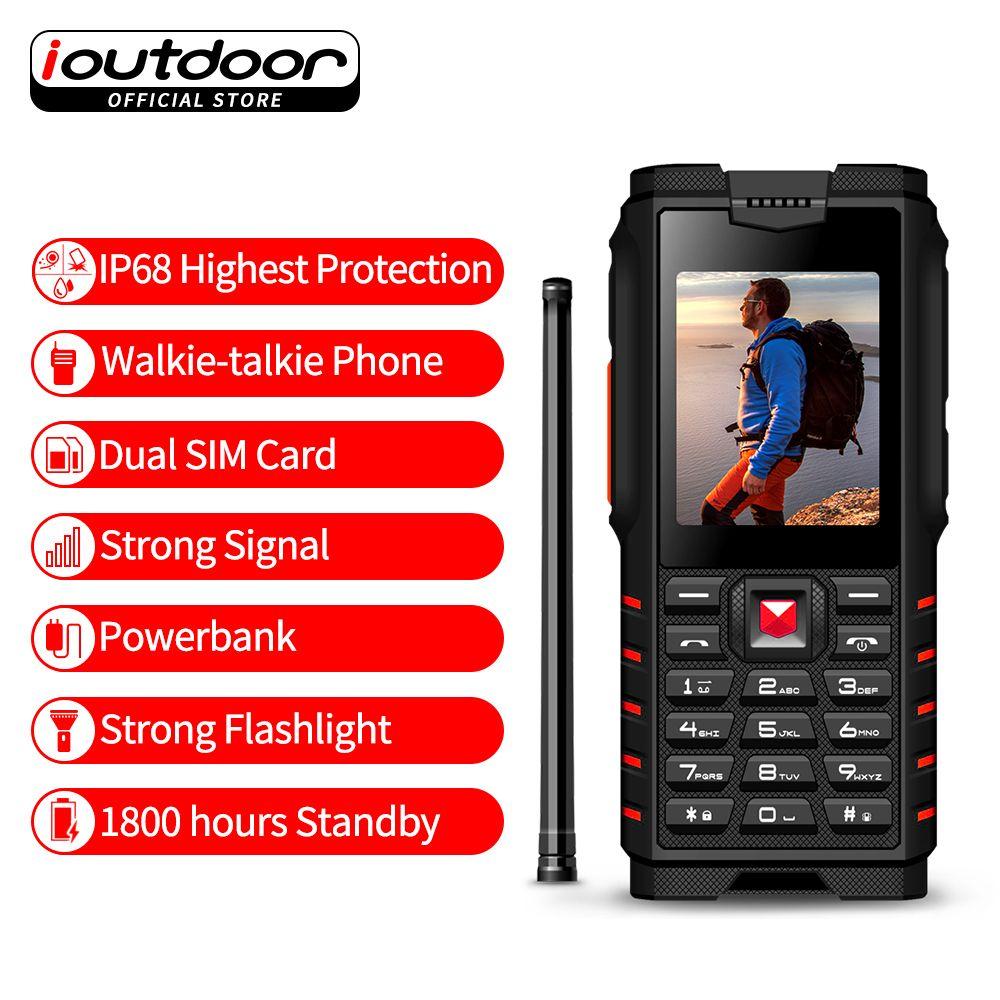 ioutdoor T2 Rugged Phone IP68 Waterproof Shockproof Cold Resistant Walkie-talkie Powerbank Flashlight 4500mAh Russian keyboard