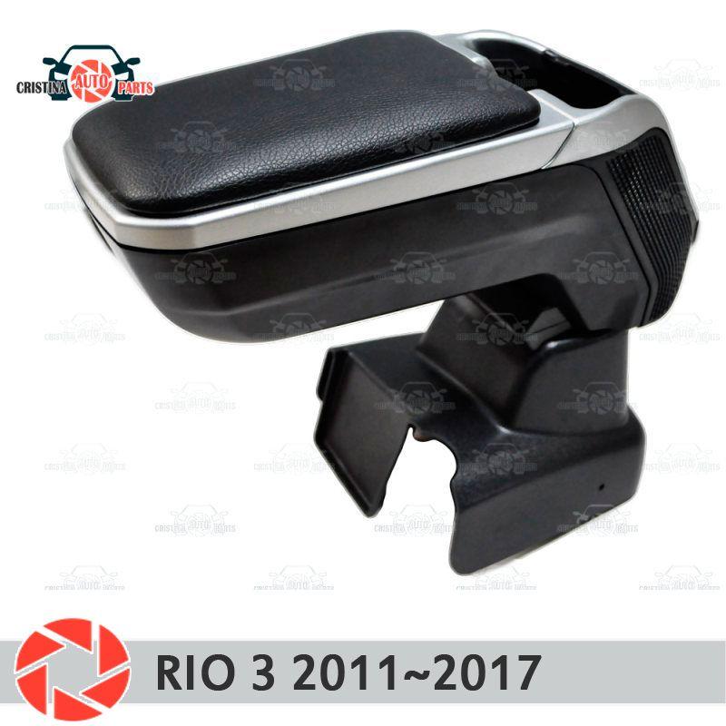 Armlehne für Kia Rio 3 2011 ~ 2017 auto arm rest zentrale konsole leder lagerung box aschenbecher zubehör auto styling m2