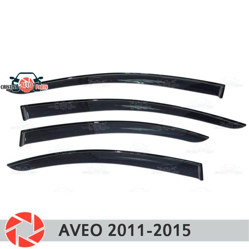 Fenster deflektor für Chevrolet Aveo T300 2012-2015 regen deflektor schmutz schutz auto styling dekoration zubehör molding