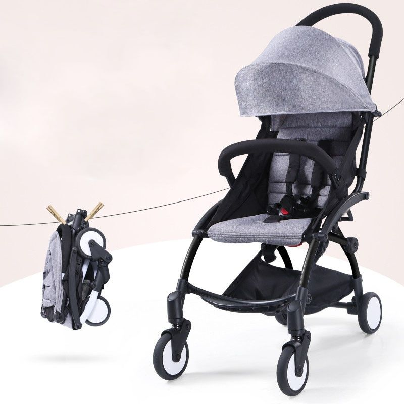 2018 baby strollers ultra-lightweight folding can sit can lie high landscape umbrella baby trolley summer and winter