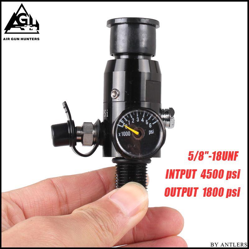 PCP Paintball 4500PSI Zylinder Druckluftbehälter HPA Regler Ausgangsdruck 1800PSI Tank Gewinde 5/8 -18UNF stecker