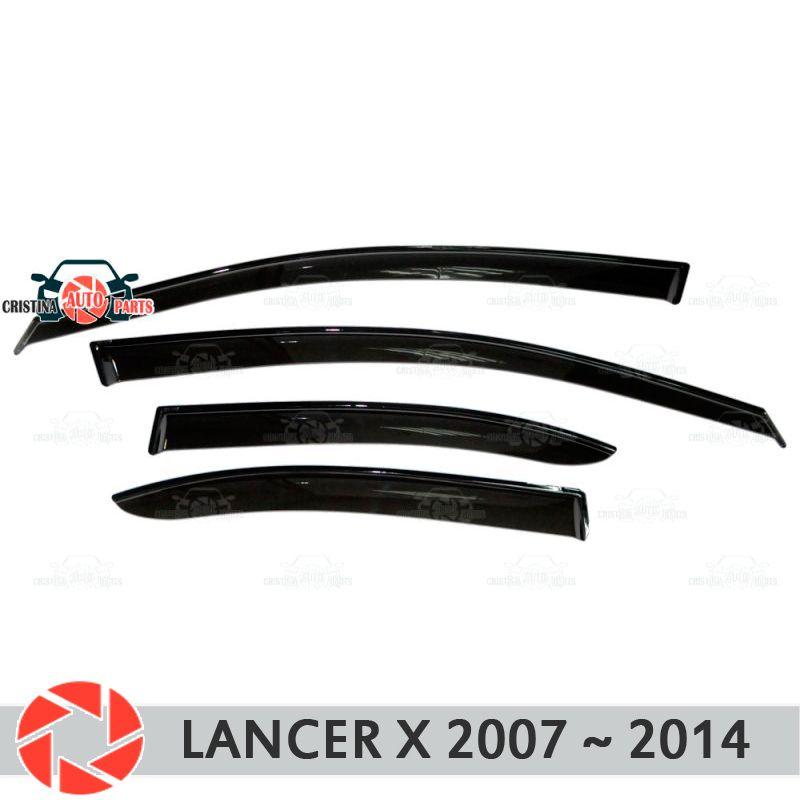 Fenster deflektor für Mitsubishi Lancer X 2007 ~ 2014 regen deflektor schmutz schutz auto styling dekoration zubehör molding