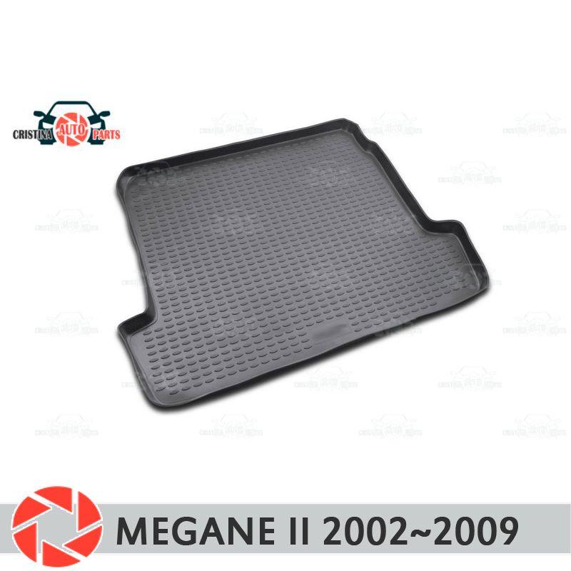 Stamm matte für Renault Megane 2 2002 ~ 2009 stamm boden teppiche non slip polyurethan schmutz schutz innen trunk auto styling