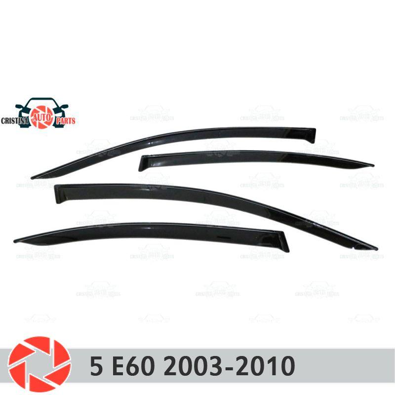 Fenster deflektor für BMW 5 Series E60 2003-2010 regen deflektor schmutz schutz auto styling dekoration zubehör molding