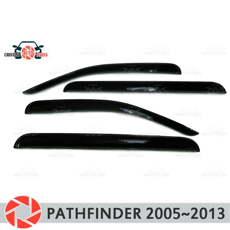 Fenster deflektor für Nissan Pathfinder 2005 ~ 2013 regen deflektor schmutz schutz auto styling dekoration zubehör molding