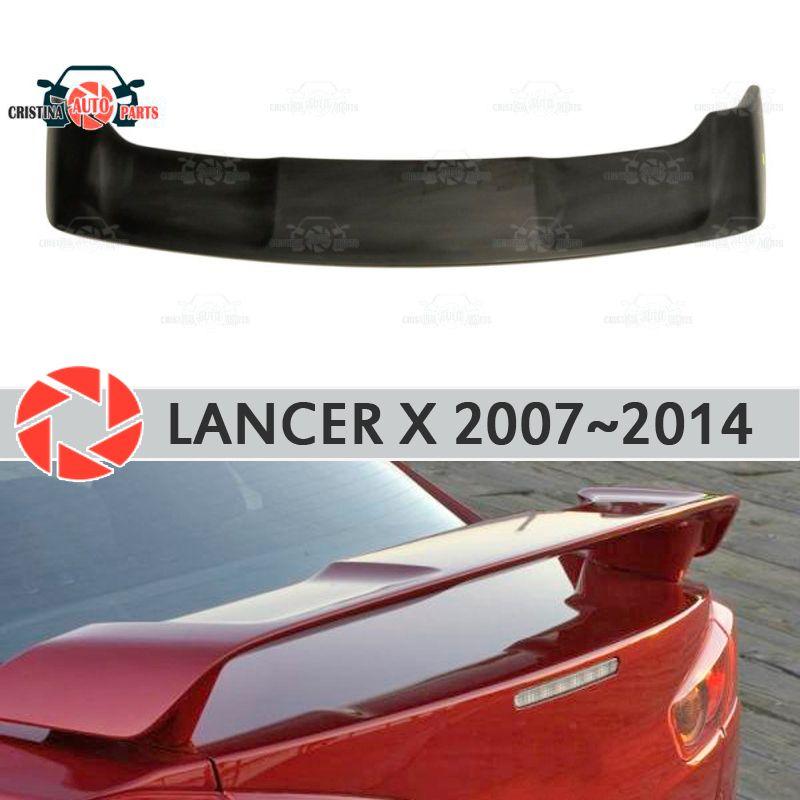 Spoiler für Mitsubishi Lancer X 2007-2014 kunststoff ABS dekoration stamm tür zubehör schutz auto styling form
