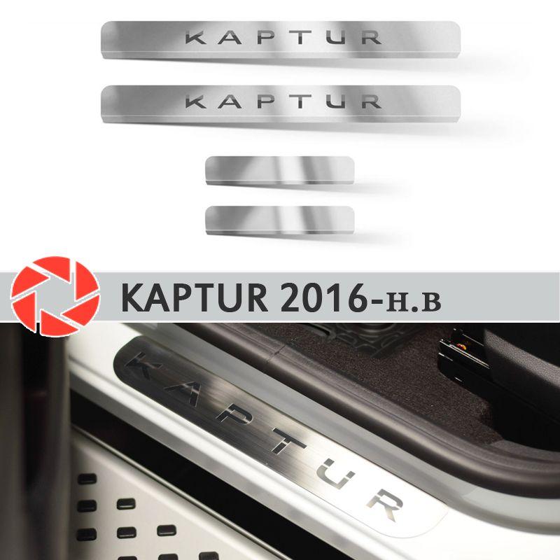 Einstiegsleisten für Renault Kaptur 2016-2019 schritt platte inneren trim zubehör schutz scuff auto styling dekoration laser buchstaben