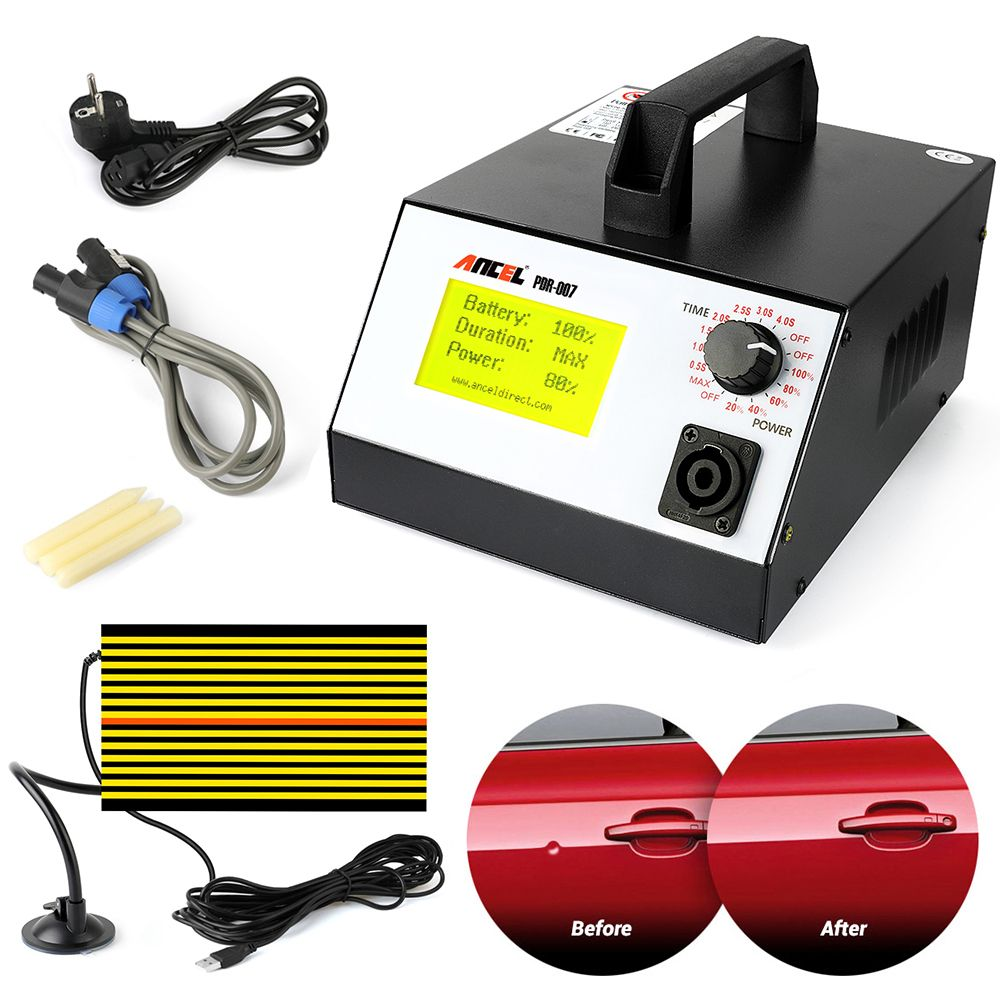 Ancel PDR-007 Hot Box PDR007 With Hand Pump Airbag Led Liht Induction Heater For Removing Dents Sheet Metal Tools Dent Repair