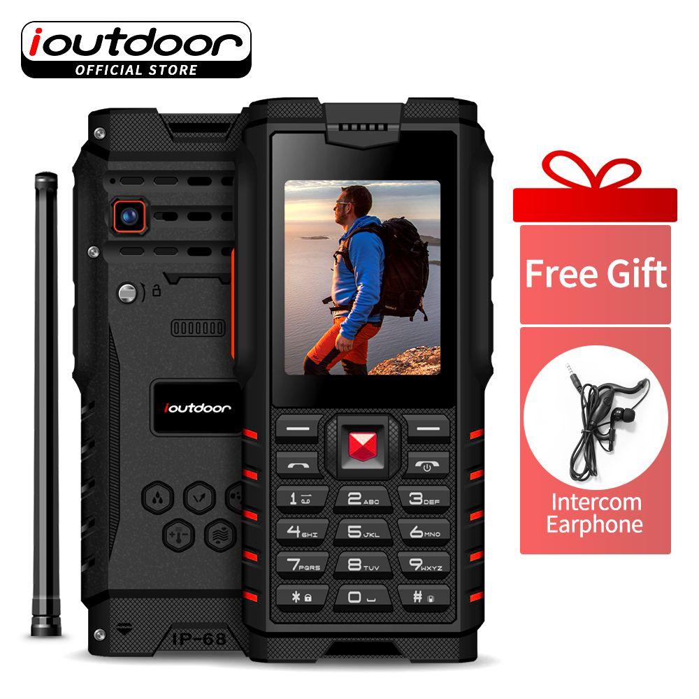 Ioutdoor T2 Robuste Telefon IP68 Wasserdicht Stoßfest Kalt Beständig Walkie talkie Power Taschenlampe 4500 mah Russische tastatur