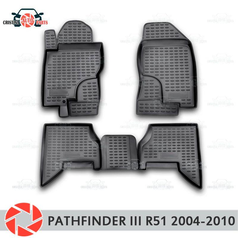 Boden matten für Nissan Pathfinder R51 2004-2010 teppiche non slip polyurethan schmutz schutz innen auto styling zubehör