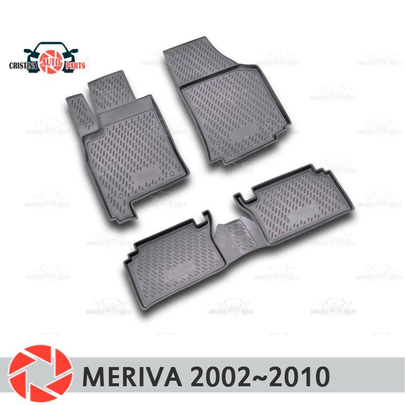 Boden matten für Opel Meriva 2002 ~ 2010 teppiche non slip polyurethan schmutz schutz innen auto styling zubehör