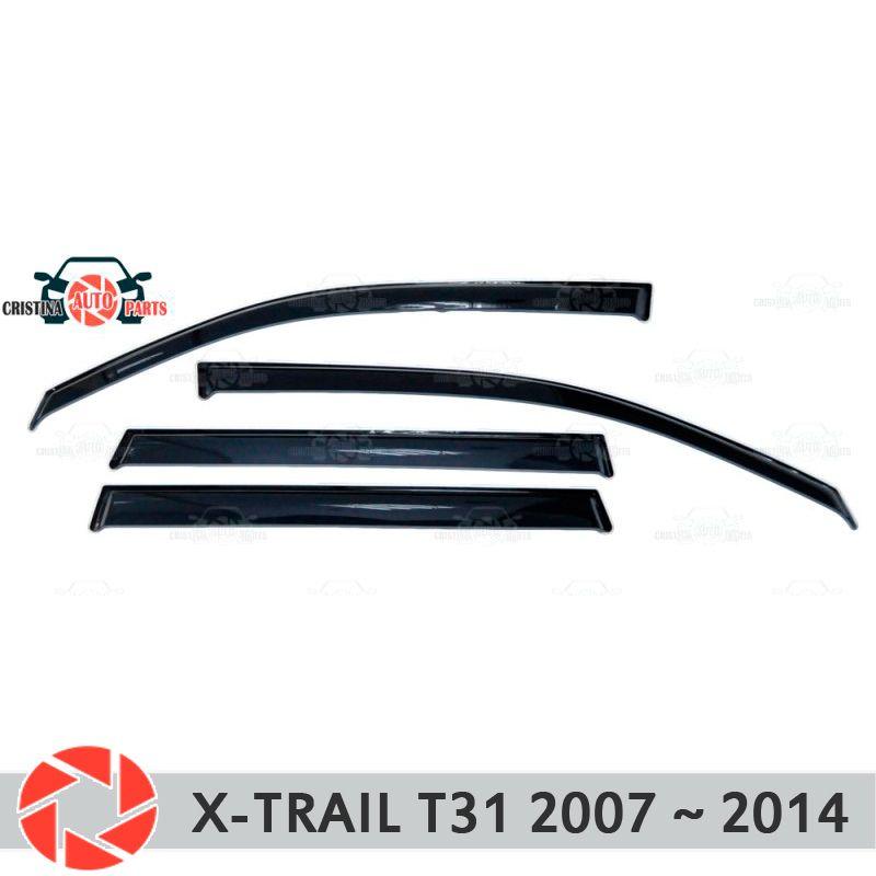 Fenster deflektor für Nissan X-Trail T31 2007-2014 regen deflektor schmutz schutz auto styling dekoration zubehör molding