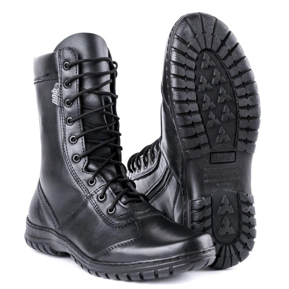 Echtes leder lace-up schwarz armee stiefeletten männer hohe schuhe flache military stiefel 5023/11WA