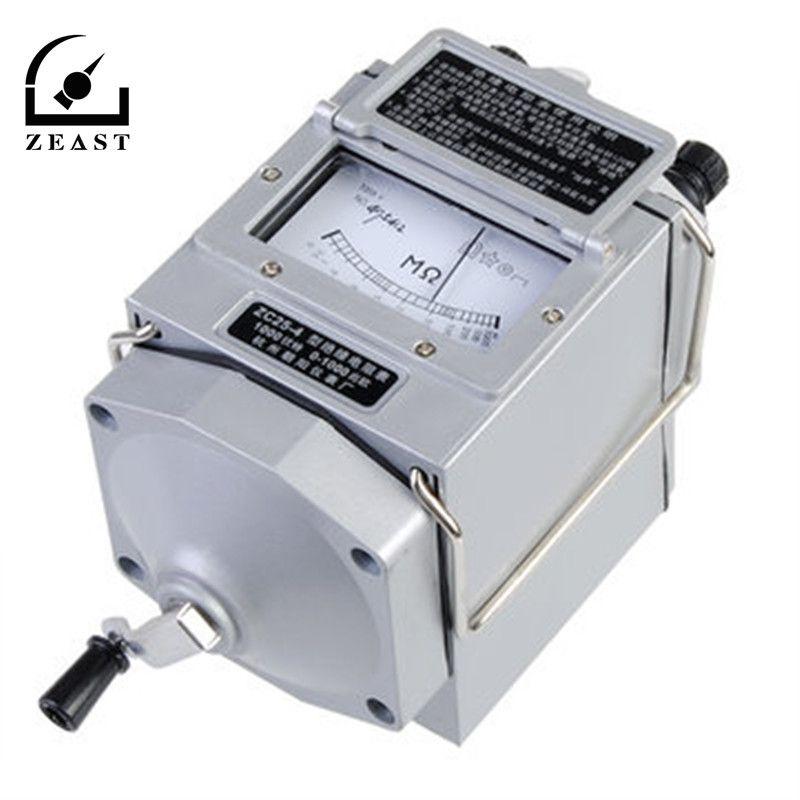 0-1000M Ohm Insulation Megohm Tester Resistance Meter Megger Megohmmeter With Multimeters Probe Lead ZC25-4 1000V