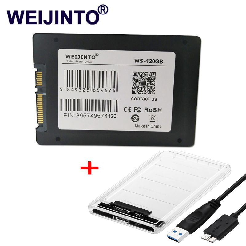 WEIJINTO SSD 60 gb 32 gb 120 gb 240 gb 256 gb 512 gb 480 gb 360 gb 960 gb SATAII SATAIII 2,5 HDD interne Solid State disk & SSD Fall