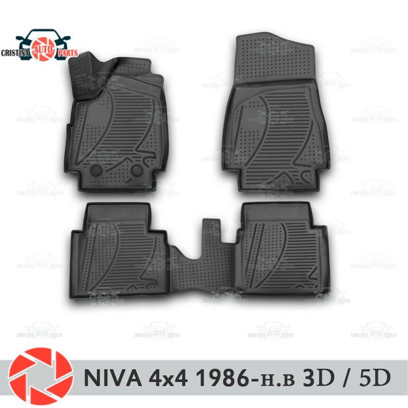 Für Lada Niva 4x4 1986-2018 fußmatten teppiche non slip polyurethan schmutz schutz innen auto styling zubehör