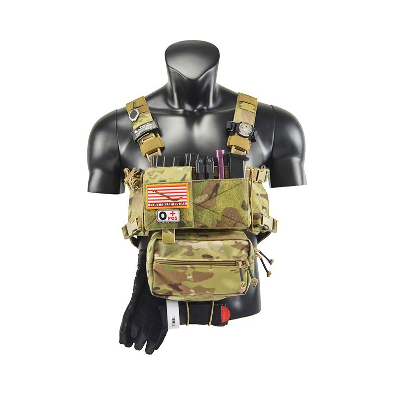 Chassis MK3 Mini Tactical Chest Rig Airsoft Hunting Vest Ranger Green Military Tactical Vest w/ Magazine Pouch TW-CR02/CR03