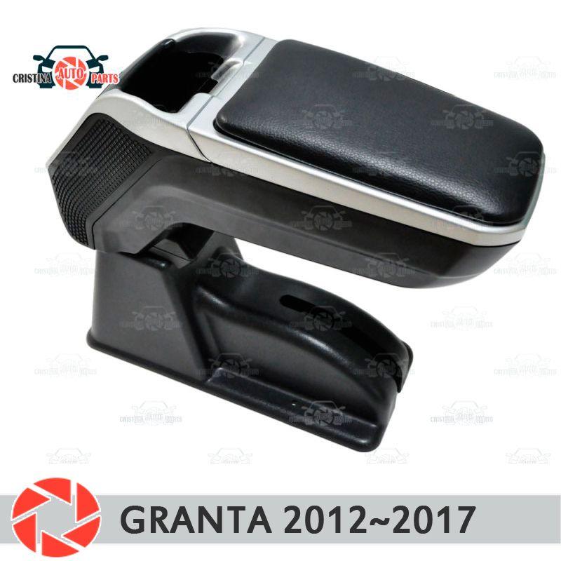 Armlehne für Lada Granta 2012 ~ 2018 auto arm rest zentrale konsole leder lagerung box aschenbecher zubehör auto styling m2
