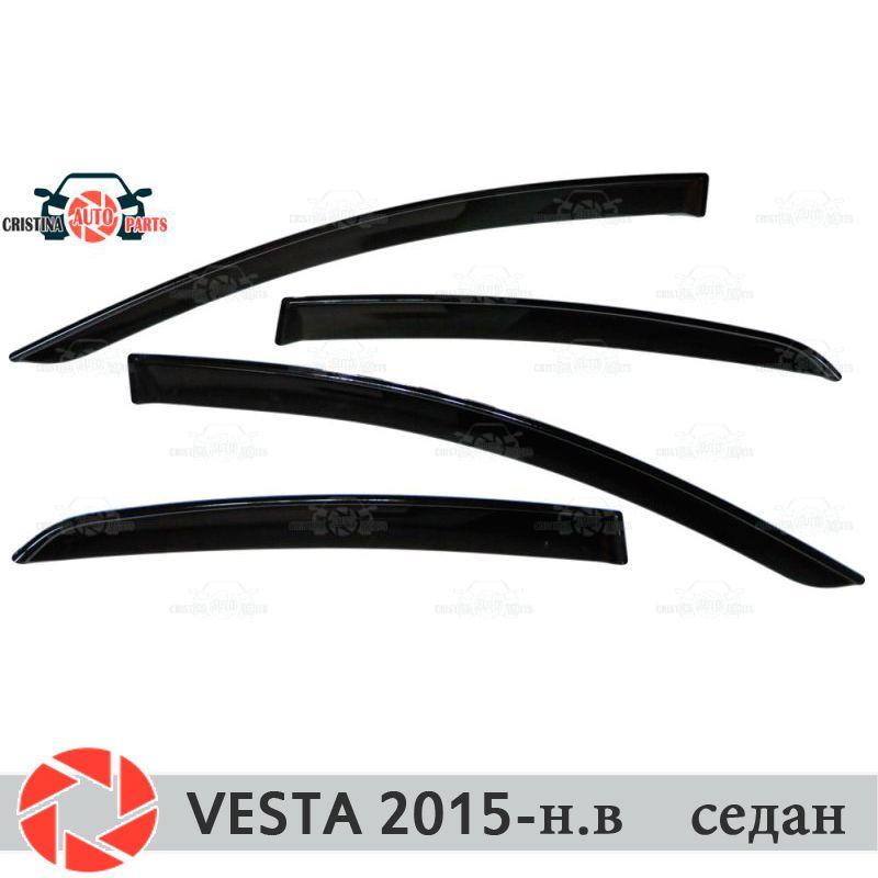 Fenster deflektoren für Lada Vesta 2015-Limousine regen deflektor schmutz schutz auto styling dekoration zubehör molding