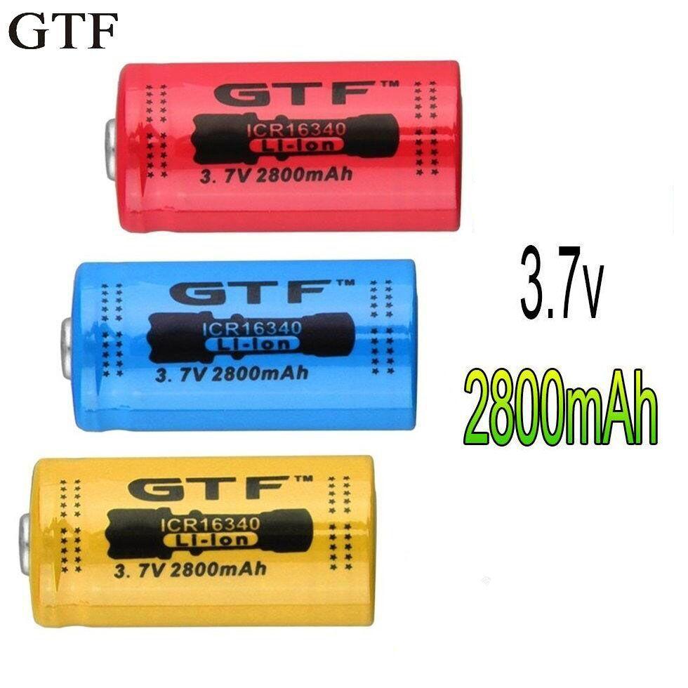 GTF 1 stücke * 2800 mAh 16340 Batterie CR123A 3,7 v Rot Li-Ion Akku Für blitzlicht