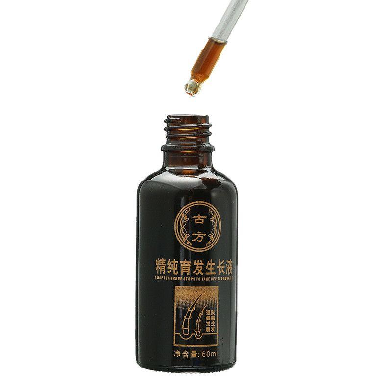 Herbal Extract Essencial Oil Hair Growth Liquid Anti Hair Loss Men Women Follicle Activating Repair Hair Care Treatment 60ml