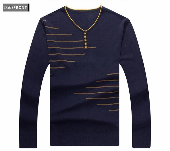 2018 nouveau T-Shirt Hommes Printemps Été Manches Longues En Coton Doux 18001-18019
