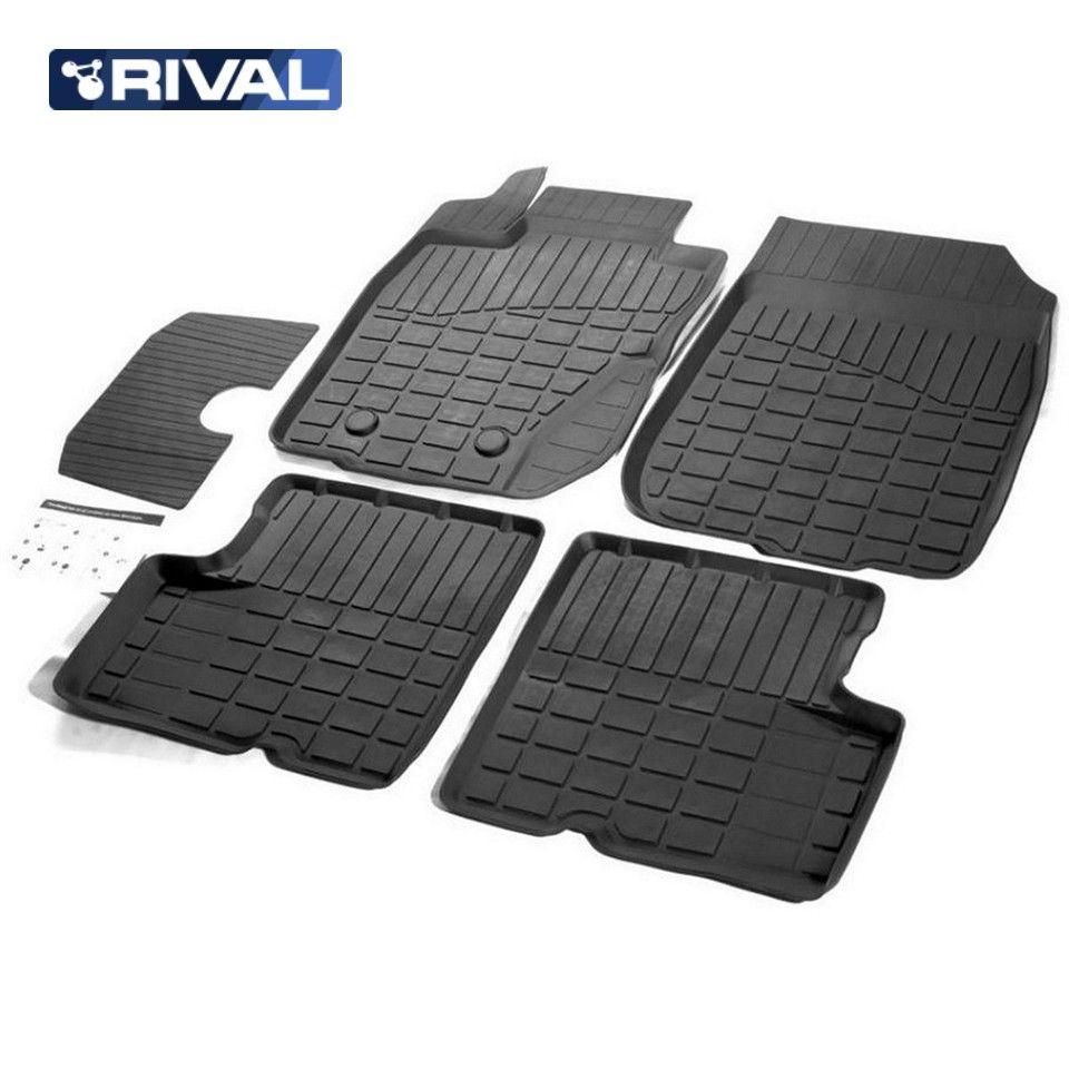 Für Nissan Terrano 4WD 2014-2019 gummi boden matten in saloon 5 teile/satz Rivalen 64701002